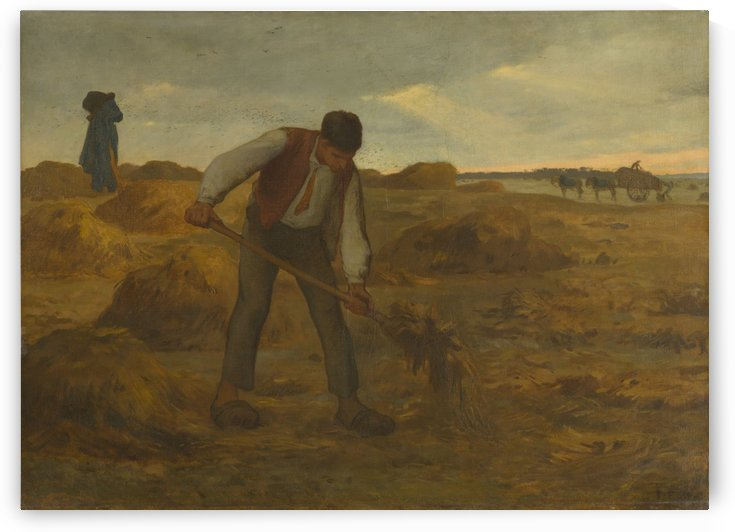 Peasant spreading manure by Jean-Francois Millet