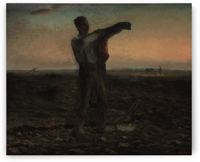 End of the day by Jean-Francois Millet