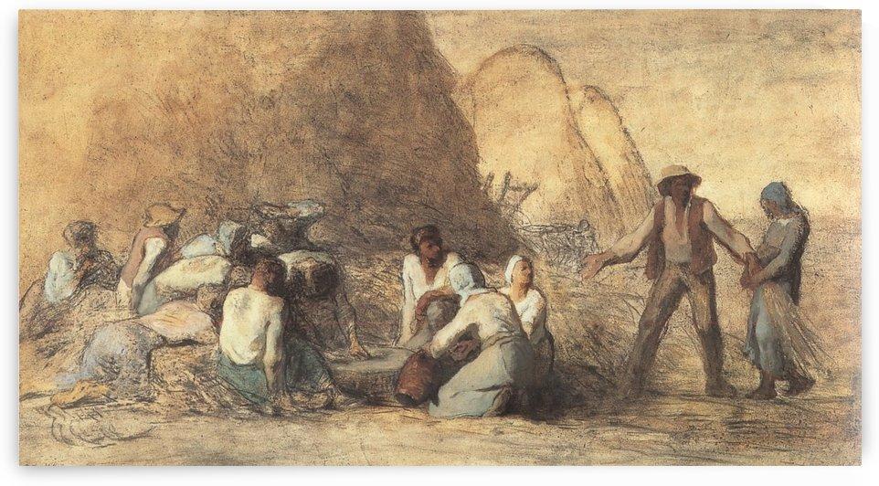 Le repas des moissonneurs ou ruth et booz by Jean-Francois Millet