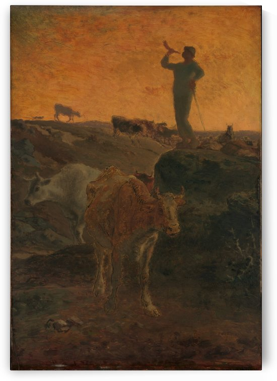 Closing the day by Jean-Francois Millet