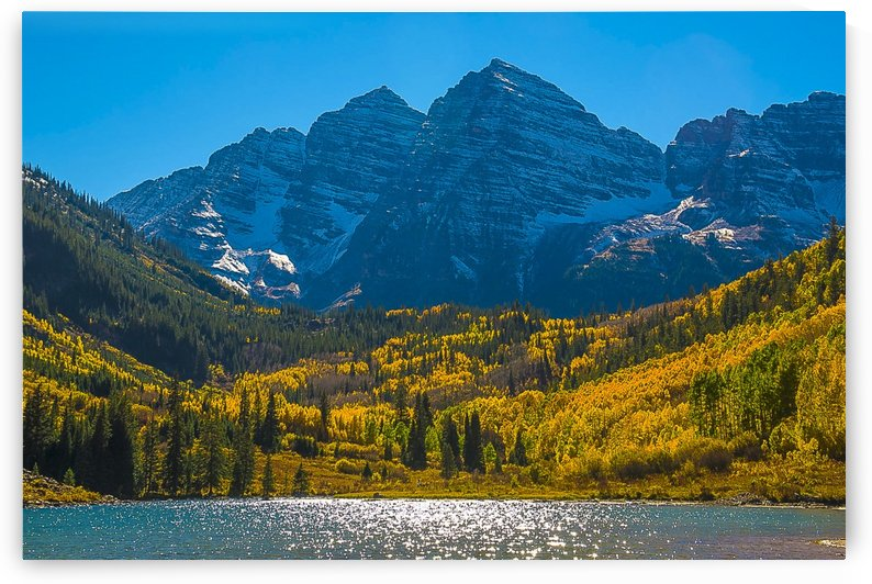 The Maroon Bells by Scene Again Images: Photography by Cliff Davis