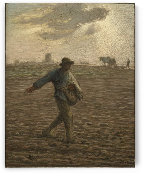 Working around by Jean-Francois Millet