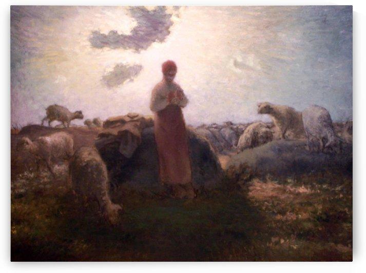 Shepperdess by Jean-Francois Millet