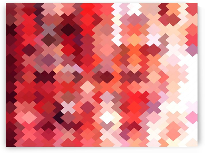 geometric square pixel pattern abstract in red and brown by TimmyLA