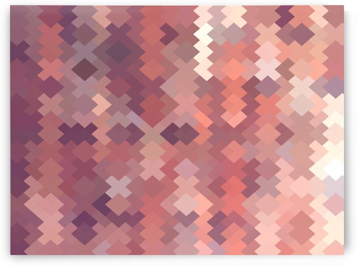 geometric square pixel pattern abstract in brown by TimmyLA
