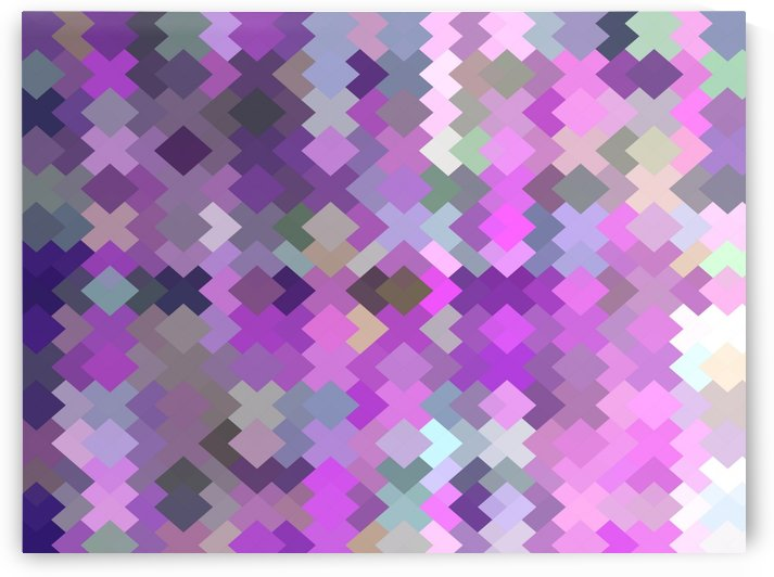 geometric square pixel pattern abstract in purple and pink by TimmyLA