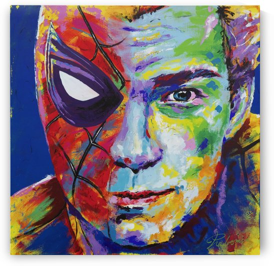 Spiderman_Portrait Art - Tadaomi - by Tadaomi K