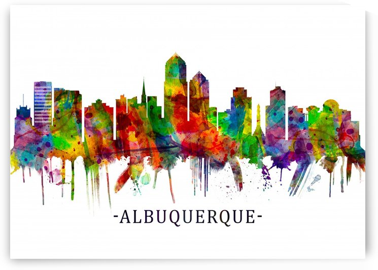 Albuquerque New Mexico Skyline by Towseef