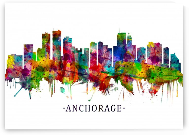Anchorage Alaska skyline by Towseef