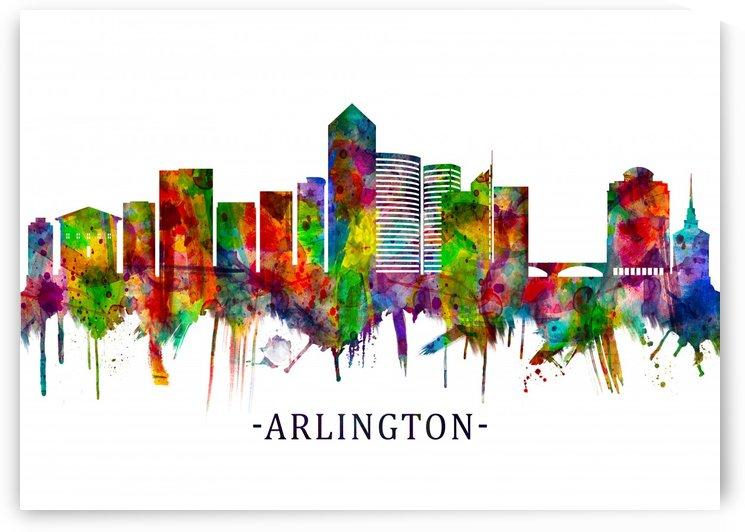 Arlington Texas Skyline by Towseef