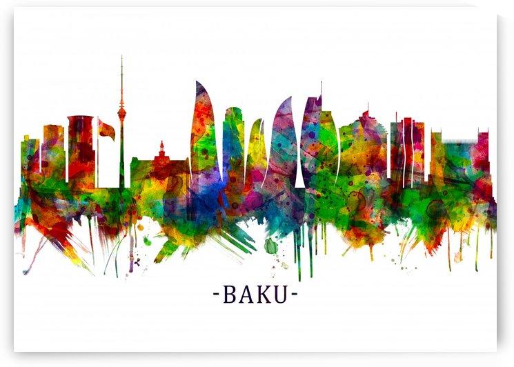 Baku Azerbaijan Skyline by Towseef