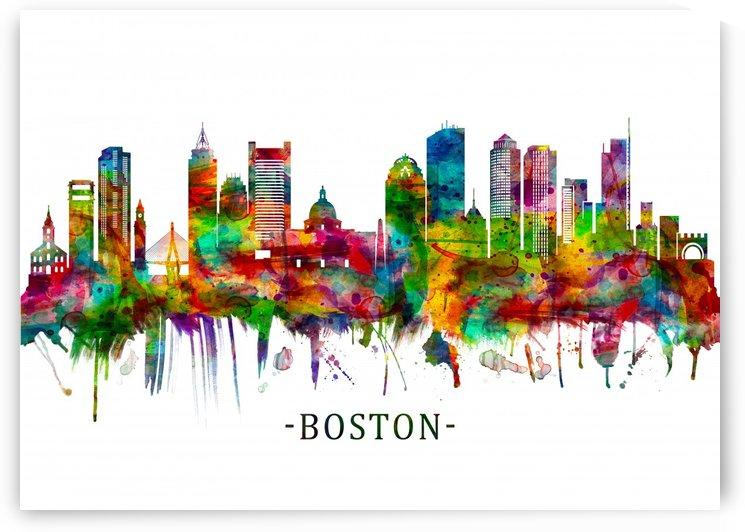Boston Massachusetts Skyline by Towseef