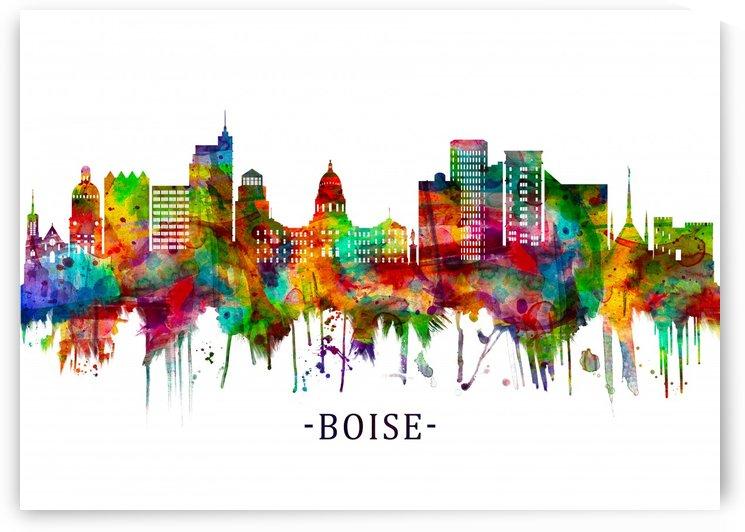 Boise Idaho Skyline by Towseef