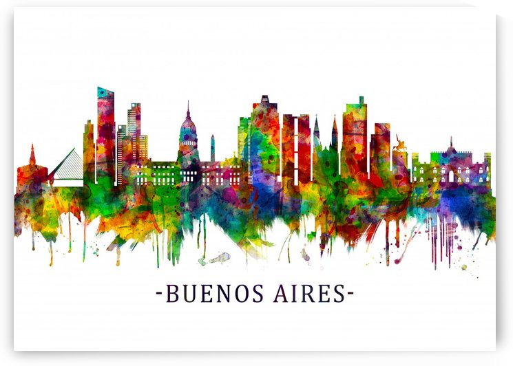 Buenos Aires Argentina Skyline by Towseef