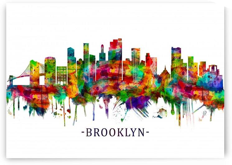Brooklyn New York Skyline by Towseef
