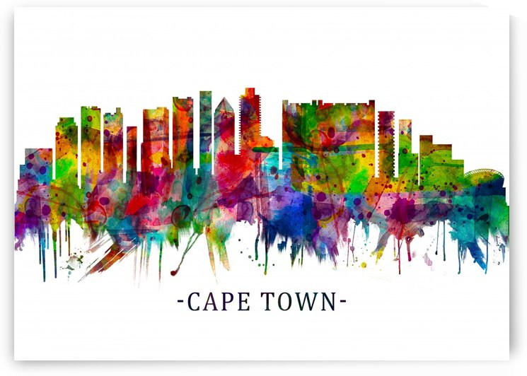 Cape Town South Africa Skyline by Towseef