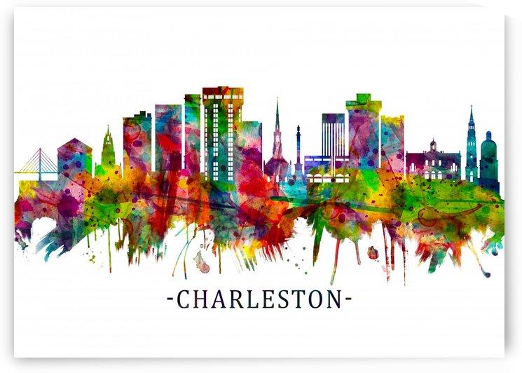 Charleston South Carolina Skyline by Towseef