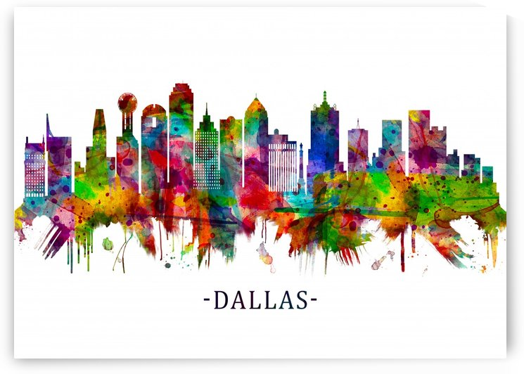 Dallas Texas Skyline by Towseef