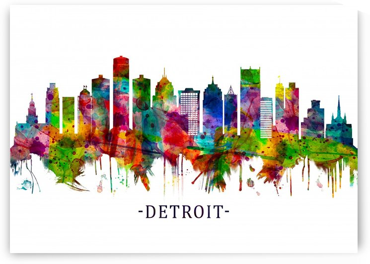 Detroit Michigan Skyline by Towseef