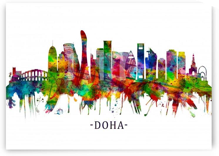 Doha Qatar Skyline by Towseef