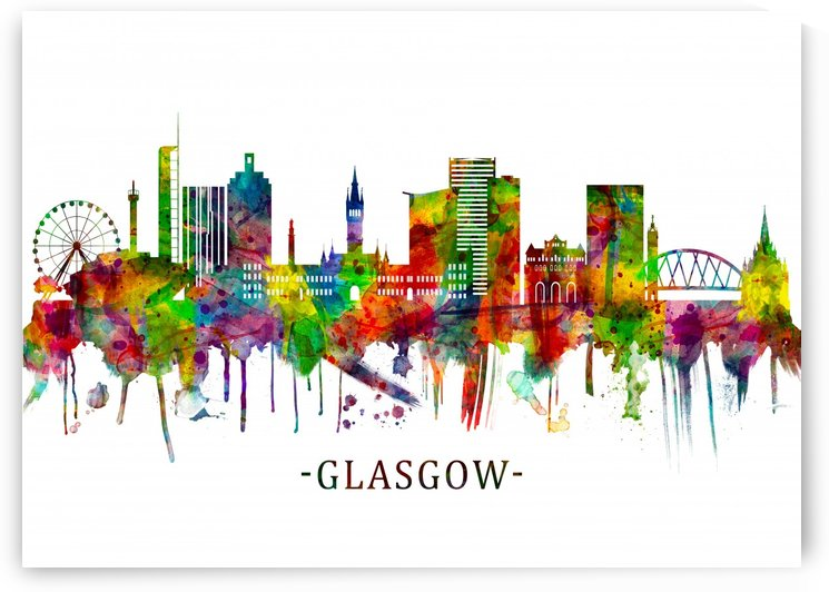 Glasgow Scotland Skyline by Towseef