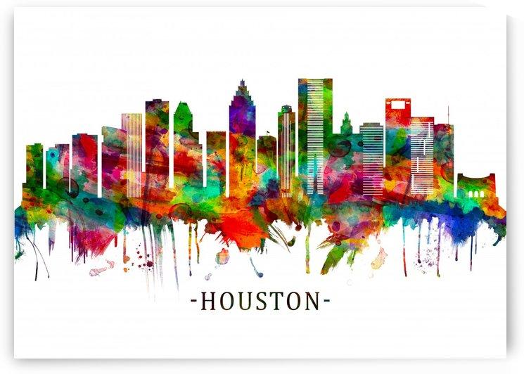 Houston Texas Skyline by Towseef