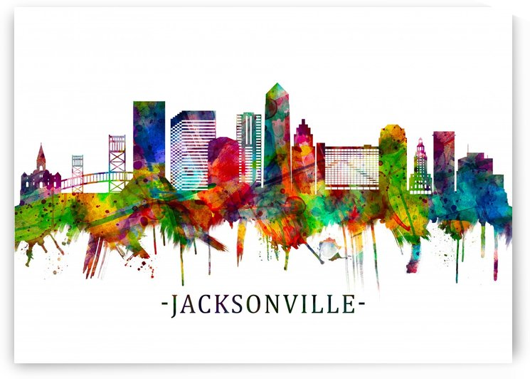 Jacksonville Florida Skyline by Towseef