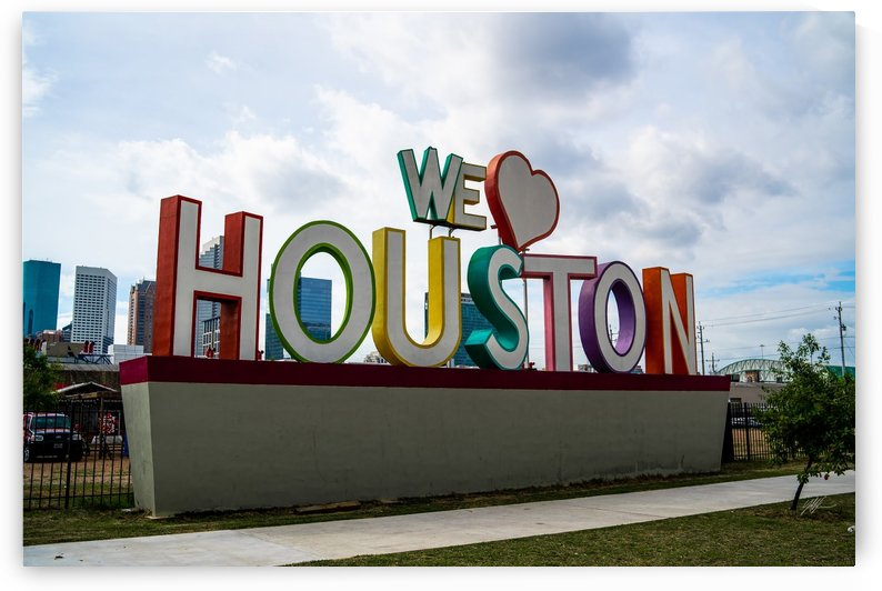 """We Love Houston"" Downtown2 by Nancy Calvert"