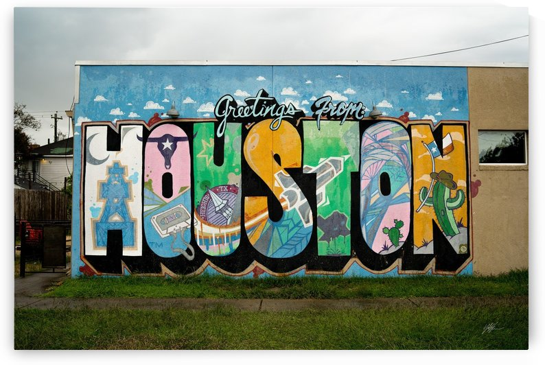 """""""Greetings From Houston"""" Downtown3 by Nancy Calvert"""