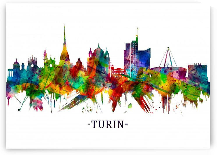 Turin Italy Skyline by Towseef