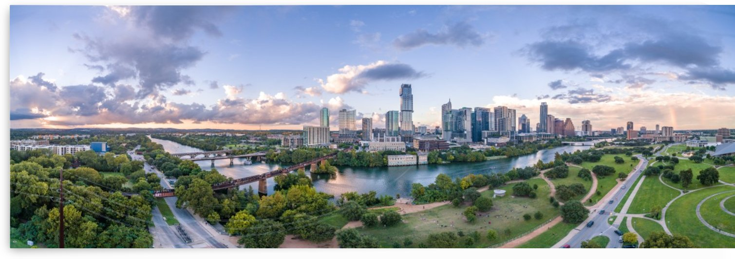 Colorful Pano Austin TX by Infinity Design and Photography