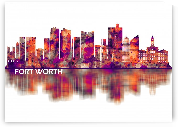 Fort Worth Texas Skyline by Towseef