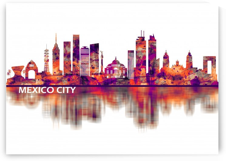 Mexico City Mexico Skyline by Towseef