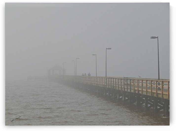Pier in the Gulf Mist by Shadow and Form