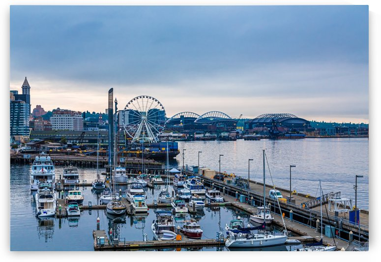 Early Morning on Seattle Waterfront by Darryl Brooks