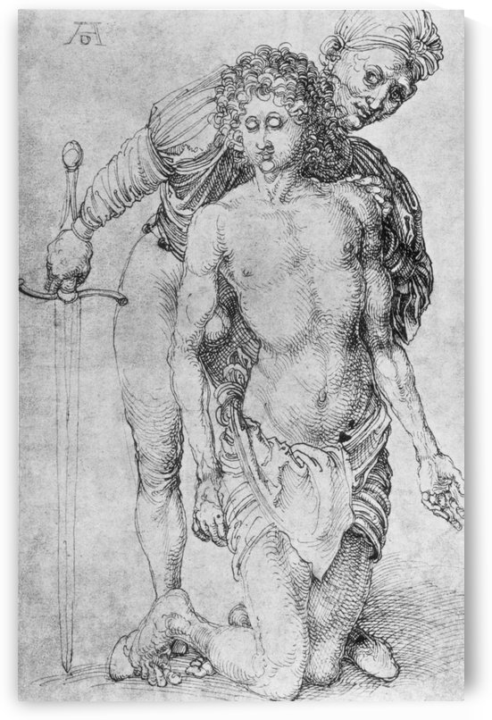 Youth with executioner by Albrecht Durer