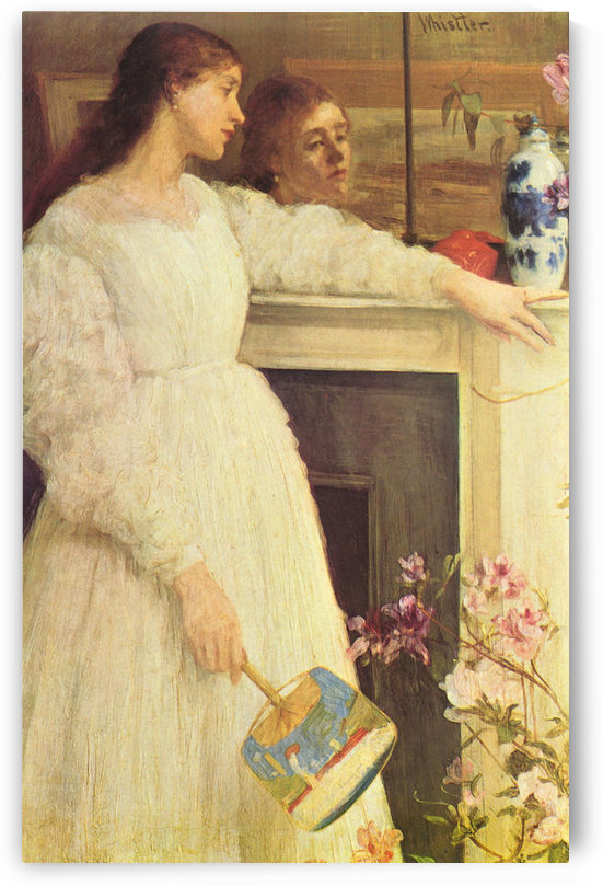 Symphony in White No. 2, girls in white by James Abbot McNeill Whistler by James Abbot McNeill Whistler