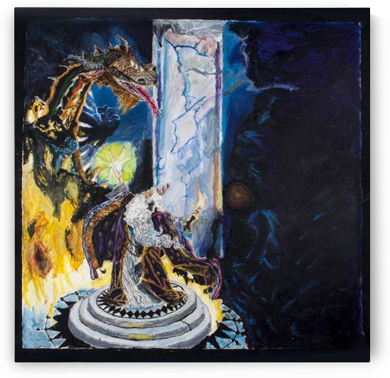 Mythical Painting created in high school around 1998 by David B Martin II