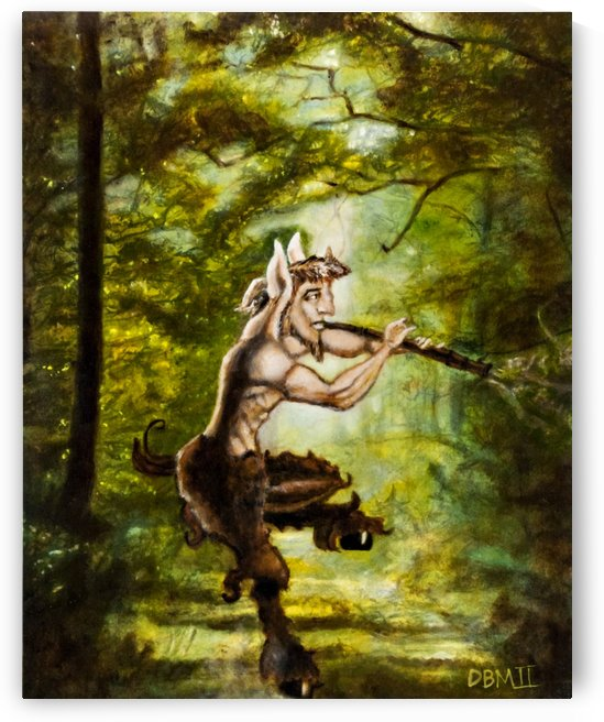Pan Playing Music and Dancing In The Woods by David B Martin II