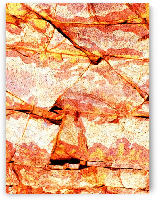 Australia Rocks - Abstract 51 by Lexa Harpell