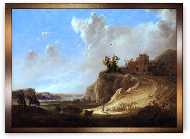 Mountainous Landscape With The Ruins Of A Castle by Aelbert Cuyp by xzendor7