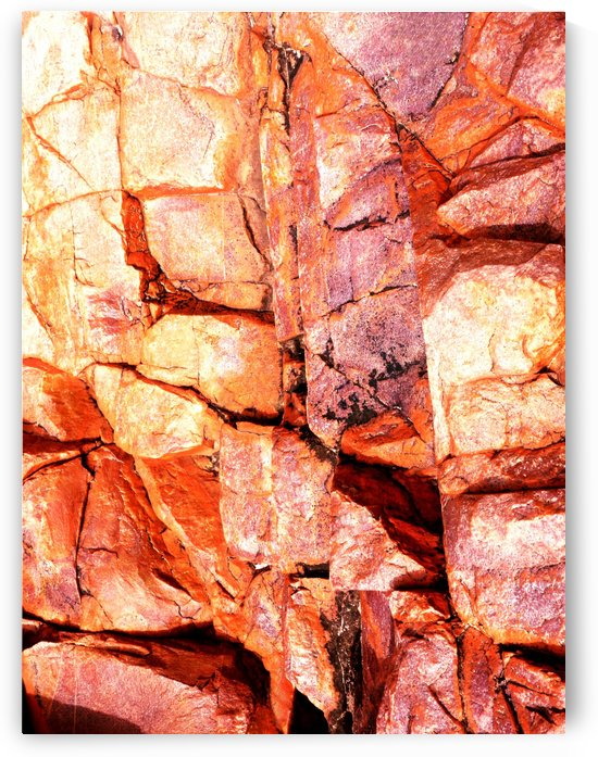 Australia Rocks - Abstract 52 by Lexa Harpell