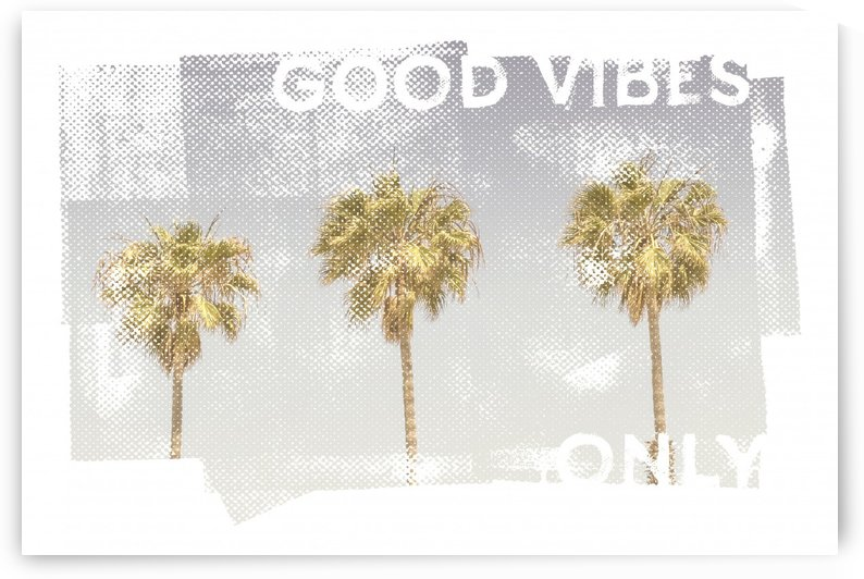 Vintage palm trees | good vibes only by Melanie Viola