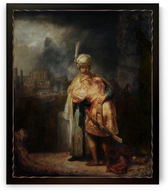 David and Jonathan by Rembrandt van Rijn by xzendor7