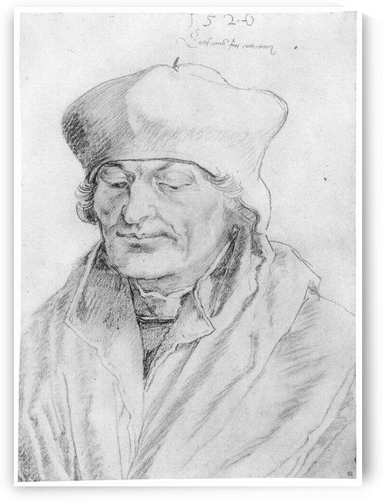 Portrait of Erasmus of Rotterdam by Albrecht Durer