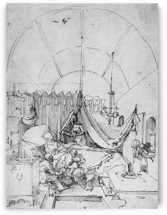 Birth of Mary by Albrecht Durer