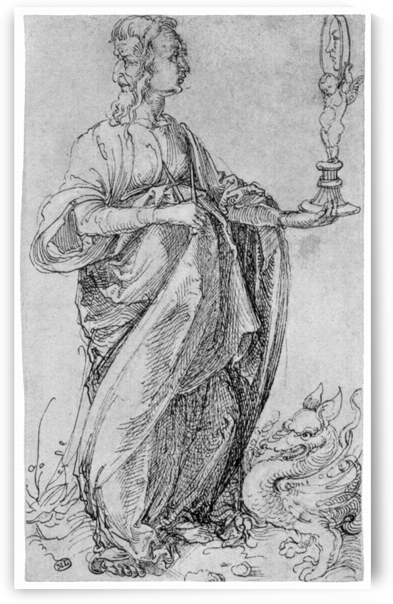 Drawing from the tarot-prudence by Albrecht Durer