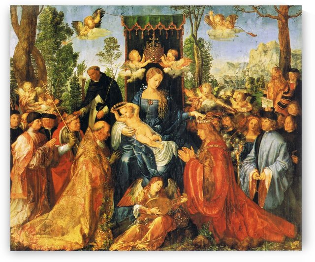 Feast of the Rose Garlands by Albrecht Durer