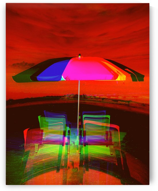 Beach Umbrella  by Kishore Dharuman