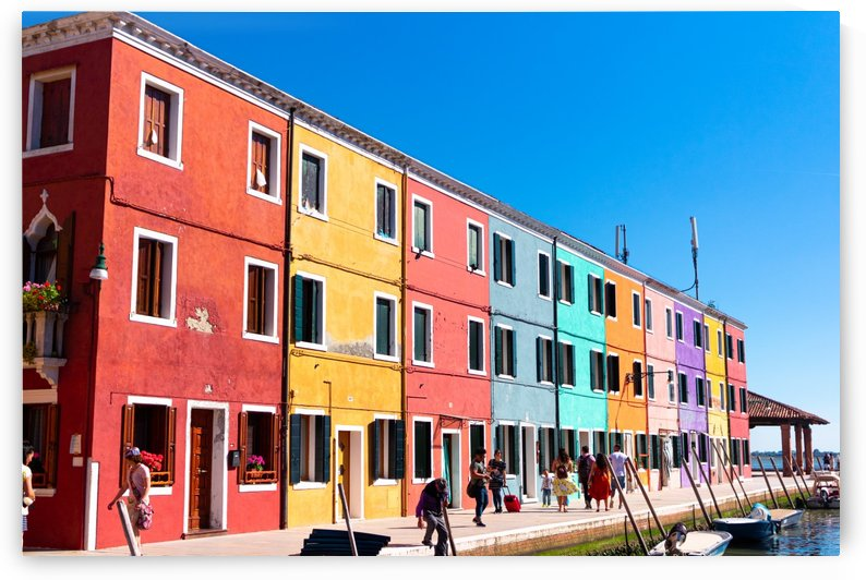 Colorful Venice Houses by Jules Siegel